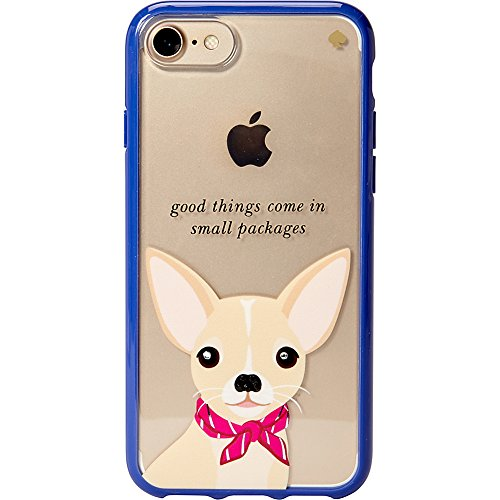 Kate Spade New York Women's Jeweled Chihuahua Phone Case for iPhone 7 Clear Multi Cellphone Case by Kate Spade New York