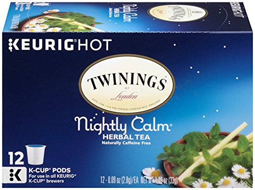 Twinings Nightly Calm Tea, Keurig K-Cups, 12 Count (Orange Linden Blossom)