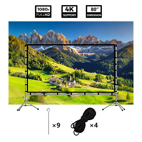 Buy 80 inch projector screen with stand