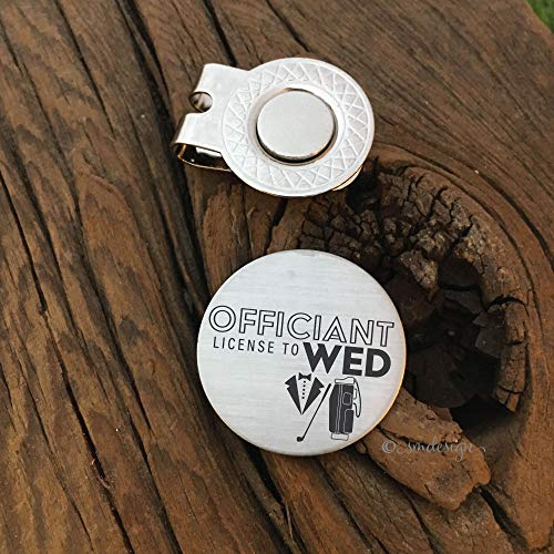 Officiant License to Wed Golf Ball Marker - Golf Disc Gift For Wedding Party Golf Ball Marker Engagement Party Gift Idea Bachelor Party Present