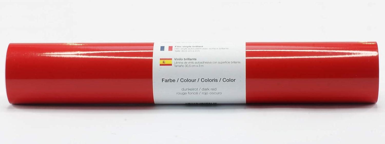 Lámina de plotter autoadhesiva lámina de vinilo 21 cm x 3 m brillo 39 colores a elegir, Glänzend L-Serie:Rojo Oscuro: Amazon.es: Hogar