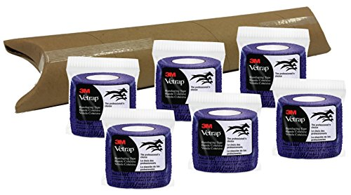 3M Vetrap 2'' Bandaging Tape, 2''x 5 Yards, 6-Roll Pack (Purple) by 3M Vetrap