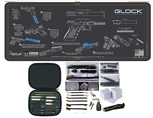 EDOG Glock CERUS Gear Instructional Step by Step PROMAT with Range Warrior Universal 27 PC Field and Bench Cleaning Essentials KIT