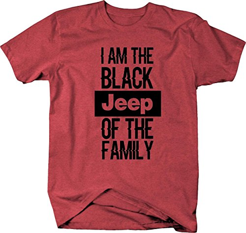 I Am the Black JEEP of the Family 4X4 Off Road Wrangler Mens T Shirt - Large