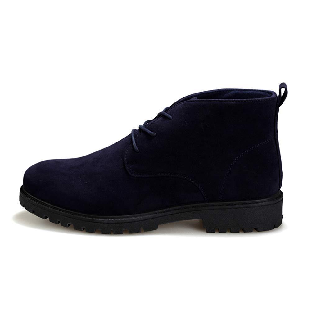 HhGold Männer Breathable High Top Schuhe Männlich Komfortable Walking Jogging Turnschuhe (Farbe   Blau, Größe   8=42 EU)
