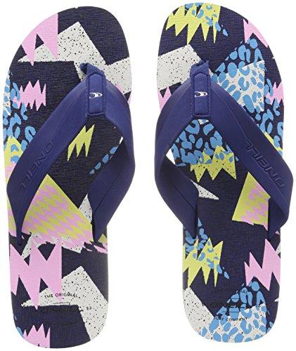 O'Neill Men's Fm Imprint Pattern Flip Flops Beach and Pool Shoes, Blue, 12 UK Blau (5950 Blue Aop W/ Blue)