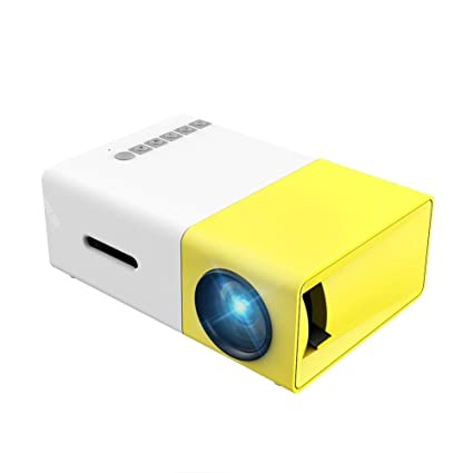 51ffc3822eac5a Generic LCD Mini Projector with LED Mini Portable Home Cinema Theater with  USB SD HDMI Input - Yellow: Amazon.co.uk: TV