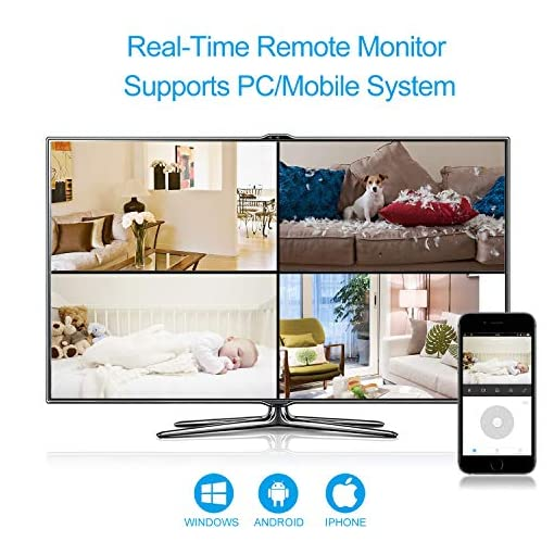 IP Camera, TanTan 1080P HD Wireless Smart Dome Camera