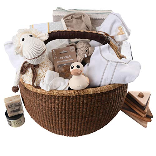 Organic Luxury Baby Gift Basket - Group Gift Idea for Baby Shower & Corporate Gifts ()
