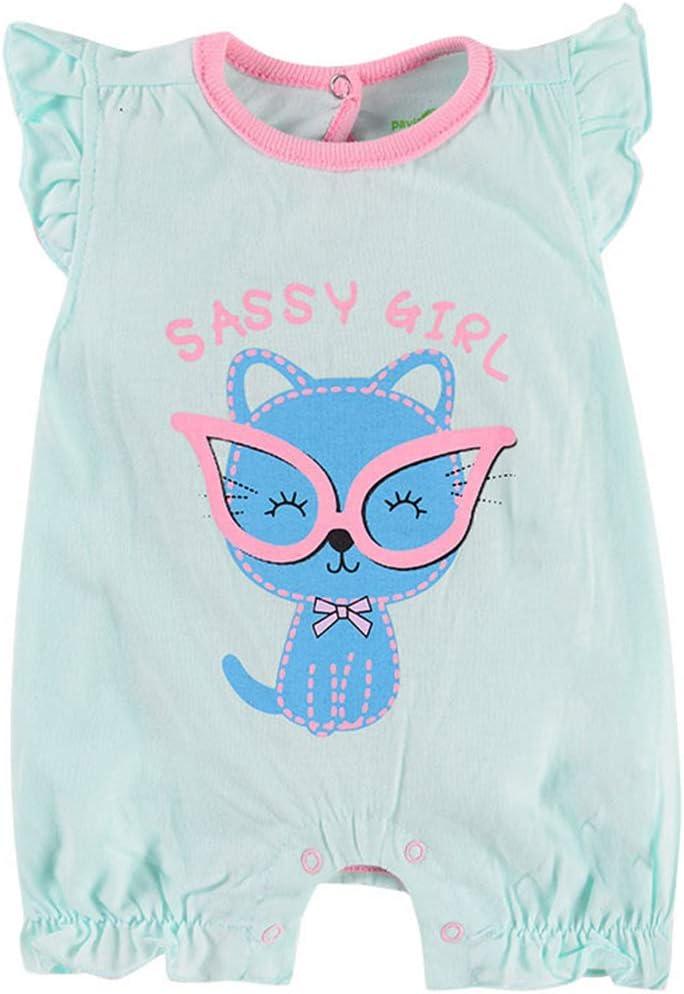 Baby Boys Girls Romper Short Sleeve Jumpsuit Infant Bodysuits Cotton Onesies Summer Pajamas Sleepsuit