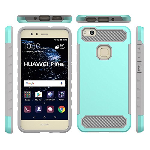 Ocamo - Carcasa Ultrafina para Huawei P10 Lite 2 en 1, Verde