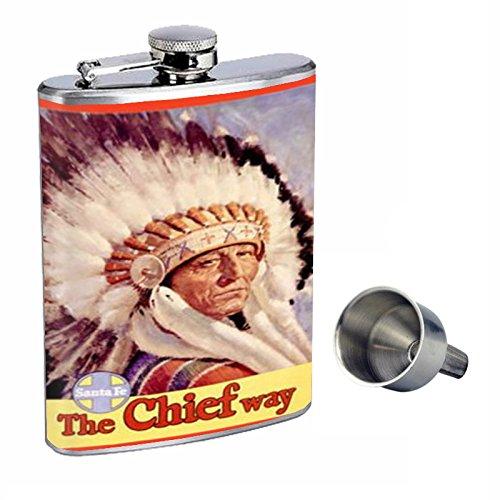 人気新品入荷 Train Santa Funnel Fe Native American Train Perfection inスタイル8オンスステンレススチールWhiskey B015QLES1Y Flask with Free Funnel d-345 B015QLES1Y, GOLDEN WEST:071f359e --- doctor.officeporto.com