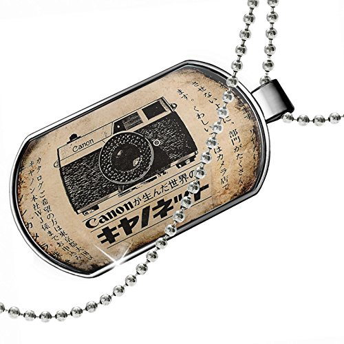 Dogtag+Camera+advertising%2C+Vintage+Dog+tags+necklace+-+Neonblond