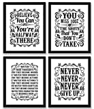 Historical Quote Motivational Posters Success Wall Art Inspired By