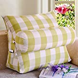 Vercart Sofa Bed Large Upholstered Headboard Filled Triangular Wedge Cushion Bed Backrest Positioning Support Pillow Reading Pillow Office Lumbar Pad with Removable Cover Mixed Color 18x16x9 Inches