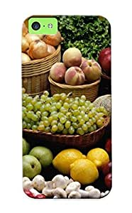 New Design Shatterproof RWpTUYU2166OWZbD Case For Iphone 5c (fruits And Vegetables)