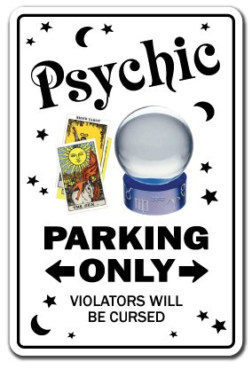 Psychic Sign Parking Palm Reading Gypsy Tarot Reader Palmist Fortune Teller | Indoor/Outdoor | 20'' Tall