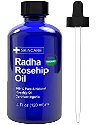 Radha Beauty USDA Certified Organic 100% Pure Oil - 4 oz. (Rosehip)