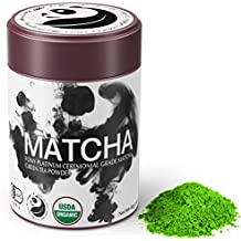 FONY Ceremonial Grade Matcha Green Tea Powder – Japanese, USDA Organic Certified – Boosts Metabolism and Burns Calories Antioxidants Rich Superfood. (Platinum, 85g)