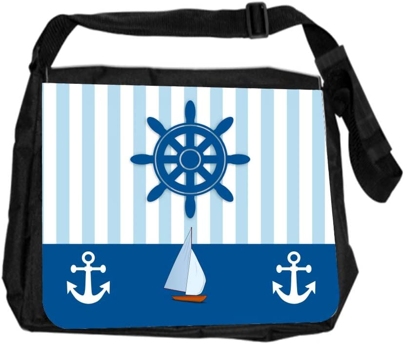 Nautical Design Cross Body Shoulder Messenger Laptop Bag