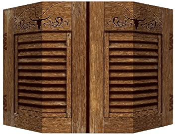 Amazon.com Western Photo Prop (1 side saloon doors; other side hay bale) Party Accessory (1 count) (1/Pkg) Kitchen u0026 Dining & Amazon.com: Western Photo Prop (1 side saloon doors; other side hay ...