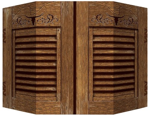 Western Photo Prop (1 side saloon doors; other side hay bale) Party Accessory  (1 count) (1/Pkg)]()