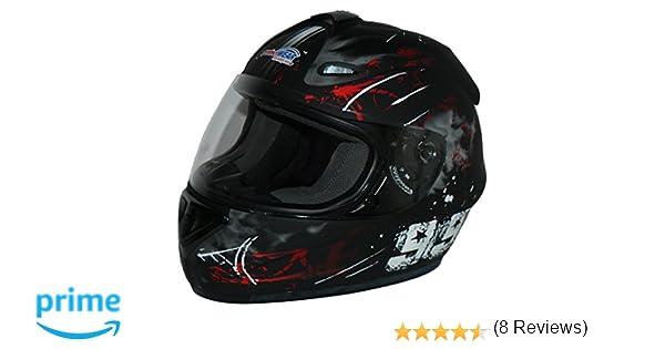 Protectwear Casco de moto negro gris 99  FS-801-99 Tama/ño L