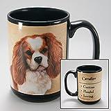 Dog Breeds (A-K) Cavalier King Charles 15-oz Coffee Mug Bundle with Non-Negotiable K-Nine Cash by Imprints Plus (048)