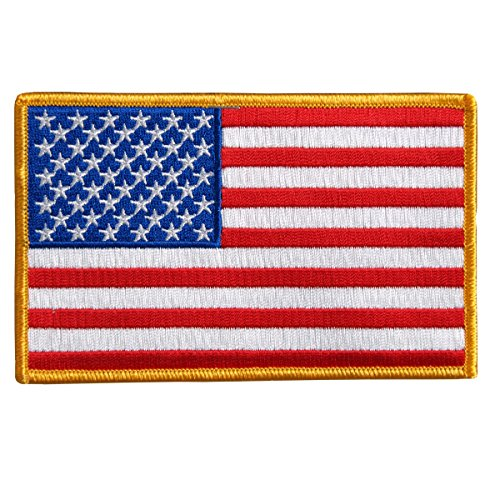 Hot Leathers, AMERICAN FLAG - Iron-On / Saw-On Rayon PATCH - 3