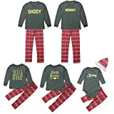 Family Matching Clothes Christmas Pyjama Sets Parent-Child Suit Homewear Family Clothing Set Women Man Newborn Infant Baby Boy Girl Xmas Sleepwear, 3PCS Letter Romper+Pants+Hat(Boy,4T)