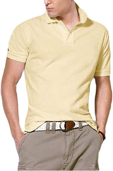 Camiseta Polo de Manga Corta para Hombre de Seguridad, Color Liso ...