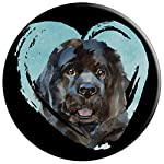 Newfoundland Portrait | Watercolor Dog Graphic PopSockets Grip and Stand for Phones and Tablets 9