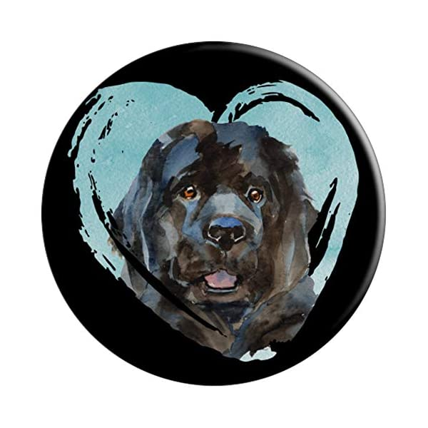 Newfoundland Portrait | Watercolor Dog Graphic PopSockets Grip and Stand for Phones and Tablets 3