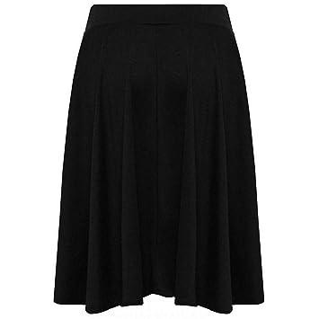 HEHEAB Falda,Moda Mujer Negra Una Línea De Cintura Alta Falda Ropa ...