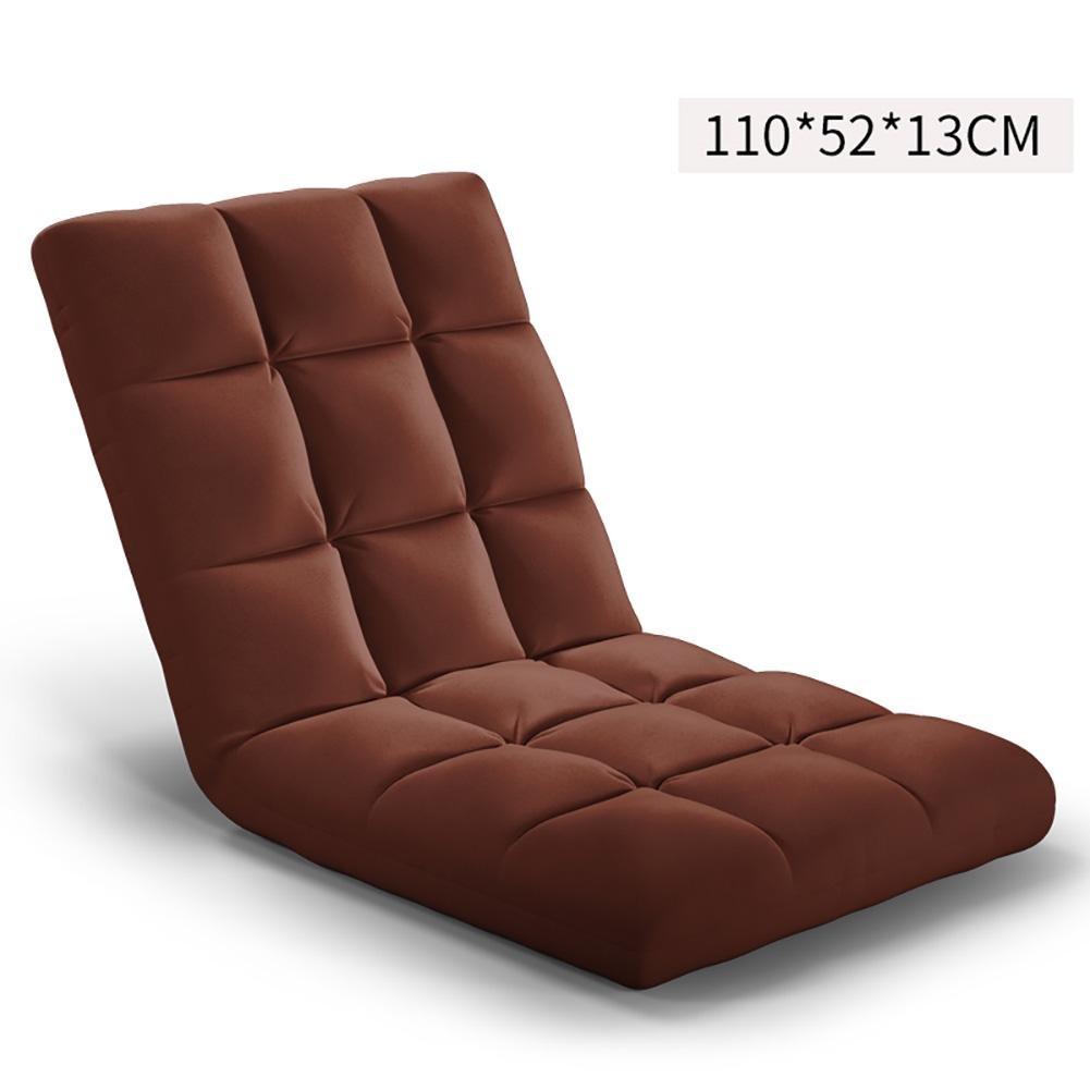 KSUNGB Lounger Sofa Foldable Individual Small sofa Bed Computer Backrest Chair Sofa, brown, 1105213cm