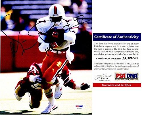 Michael Irvin Autographed Signed Miami Hurricanes 8x10 Photo - 3x Super Bowl champion - PSA/DNA -