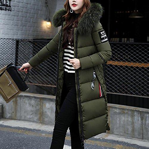 Down Thicker Muium Warm Coat Slim Women Casual Overcoat Winter Army Lammy Green Jacket wAqw8pO