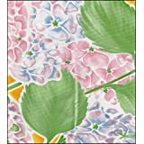 """Round Oilcloth Tablecloths in Hydrangea Collection - Yellow - 47"""""""