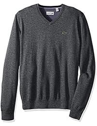 Lacoste Men's Seg 1 Cotton Jersey V-Neck Sweater, Ah0347-51
