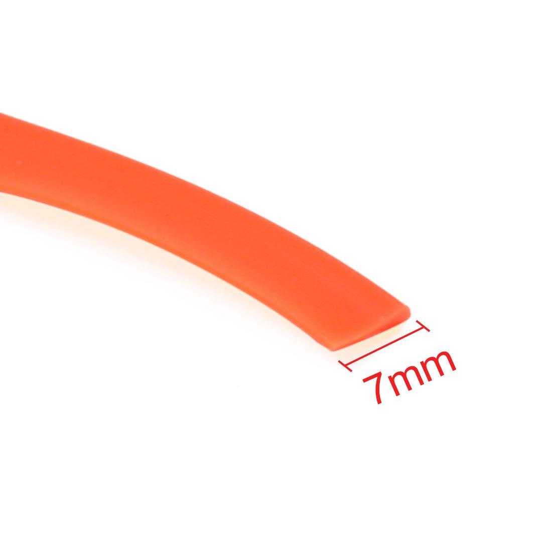 sourcingmap Orange Car Interior Exterior Dekoration Zierleiste Streifen Linie 10M L/änge DE de