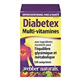 Webber Naturals Diabetex Healthy Blood Sugar Balance and Metabolism Multi Vitamin Tablets
