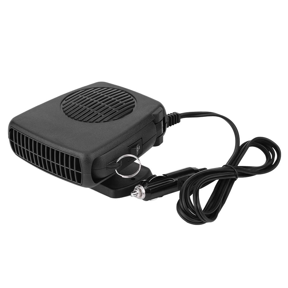 Cuque Windshield Car Heater 12V 150W Car Portable 2 in 1 Ceramic Heating Cooling Heater Fan Defroster Defogger Demister Car Heat Cooling Fan Lighter with Hidden Handle and 360° Adjustable Base