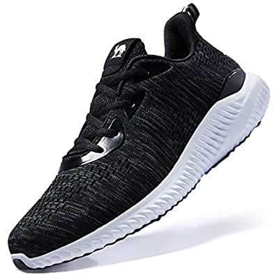 CAMELSPORTS Men's Running Shoes Lightweight Shockproof Walking Shoes Cushioning Men Sneakers for Gym Sports Casual Athletic Outdoor Black Size: 7