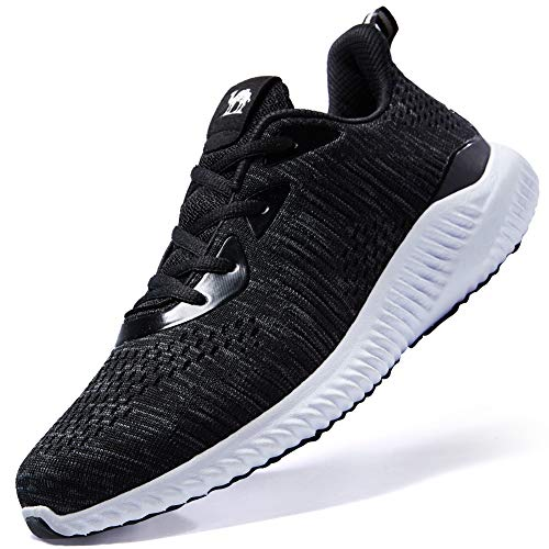 CAMELSPORTS Men's Running Shoes Lightweight Shockproof Walking Shoes Cushioning Men Sneakers for Gym Sports Casual Athletic Outdoor Black Size 12