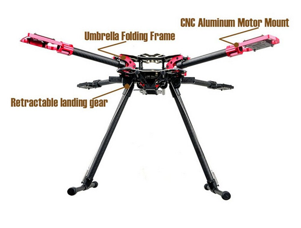 Padshow HMF U580 Pro 4 Achsen Faltbare Rc Drone Quadcopter Rahmen ...