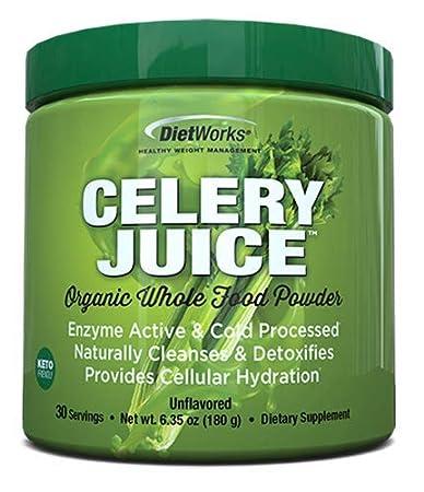 Celery Juice Organic Whole Food Powder, Unflavored, 6.35 oz