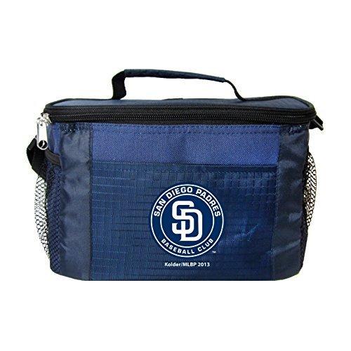 (New MLB Baseball 2014 Team Color Logo 6 Pack Lunch Bag Cooler - Pick Team (San Diego Padres))