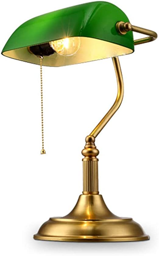 Zytyek Lámparas de Escritorio Clasicos Cobre Cobre lámpara de Mesa ...