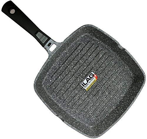 - Coninx Grill Pan With Detachable Handle | 100% PFOA Free Square Griddle Pan | Nonstick Cookware for any Heat Source including Induction and Oven | 11-inch | Dishwasher Safe
