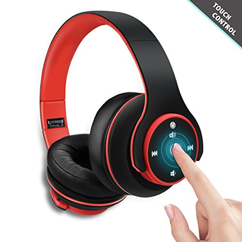 Wireless On-Ear Bluetooth Headphones – Zonciny Foldable Hi-Fi Stereo Headphones Touch Control Headset MP3 Player Support Wireless & Wired Mode for Android iPhone Tablet Laptop PC and More Devices
